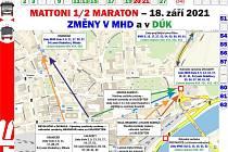 Mattoni 1/2 maraton v Ústí nad Labem omezí dopravu a přepravu.