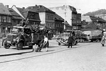 ODSUN. Německá armáda utíkala podél Krušných hor před Sověty i Poláky.