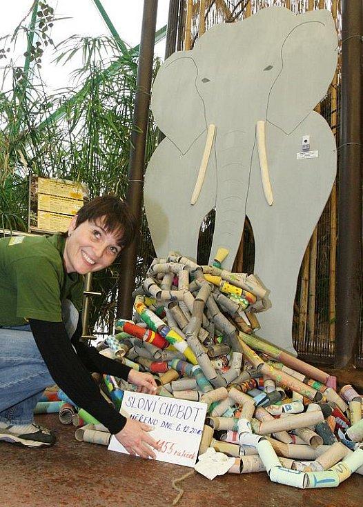 Děti sestavily stometrový chobot z ruliček...