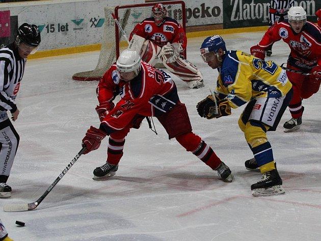 Po domácí porážce s Pískem hostili hokejisté Ústeckých Lvů Havlíčkův Brod soupeře porazili 5:0.