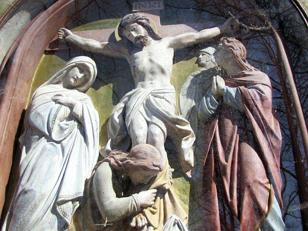 Jedním ze symbolů Velikonoc je motiv ukřižování Ježíše Krista.