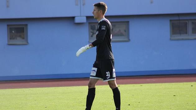 Jan Plachý v dresu FK Ústí nad Labem na Městském stadionu v Ústí.