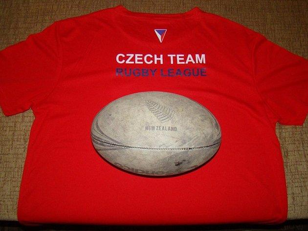 Tričko ČR Rugby League + míč