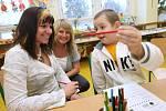 Zápis do první třídy na základní škole Mírová.