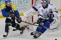 Ústečtí hokejisté (modro-žlutí) doma porazili Litoměřice 3:1.
