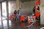Dobrovolníci ze Stebna pomáhali při povodních