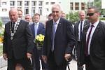 Miloš Zeman přijel na návštěvu Ústeckého kraje.