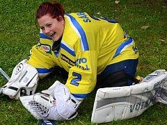 Iveta Tománková sní o vstupu do hokejbalové reprezentace osmnáctiletých.