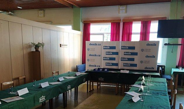 Restaurace Severka vMostě, připravená na debatu