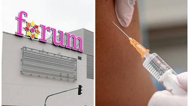 Očkovací v ústeckém obchodním centru Forum skončí