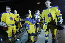 Hvěyzdy minulosti a naděje budoucnosti Slovanu se setkaly před utkáním hvězd.