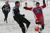 Fotbalové utkání mezi Arma Ústí nad Labem a Kladno.