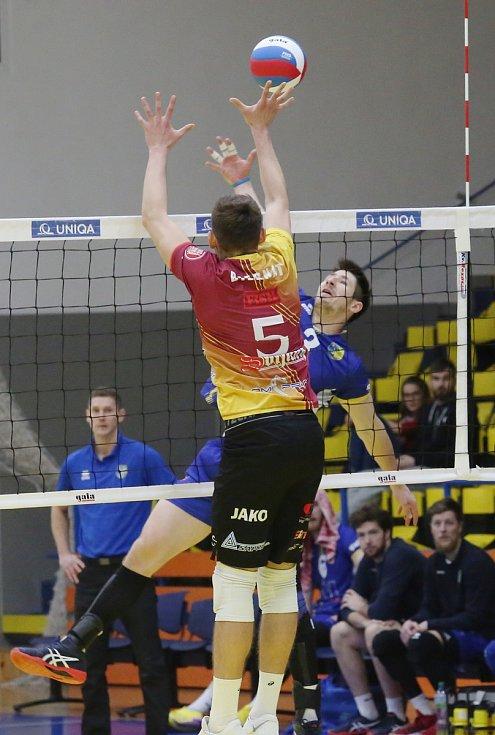 Volejbalový zápas mezi Ústí a Libercem