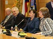 Setkání prezidentského páru s krajskými zastupiteli a nově zvolenými starosty.