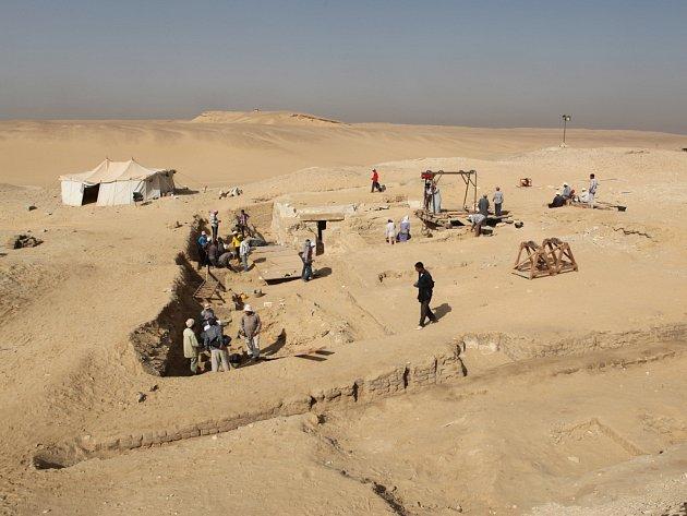 ARCHEOLOGICKÁ LOKALITA Abúsír v Egyptě.