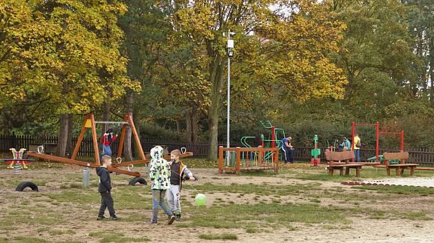 Park na Severní Terase v Ústí nad Labem.