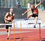 Baráž o extraligu v atletice mužů, září 2018 v Ústí nad Labem. Foto: Deník/Rudolf Hoffmann. Lunhul a Lux, 400 metrů překážek