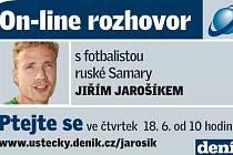 On-line rozhovor s Jiřím Jarošíkem.