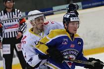 Ve druhém zápase předkola play-off Slovan podlehl Kadani 3:4 v prodloužení.