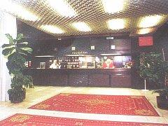 Recepce hotelu Máj v devadesátých letech.