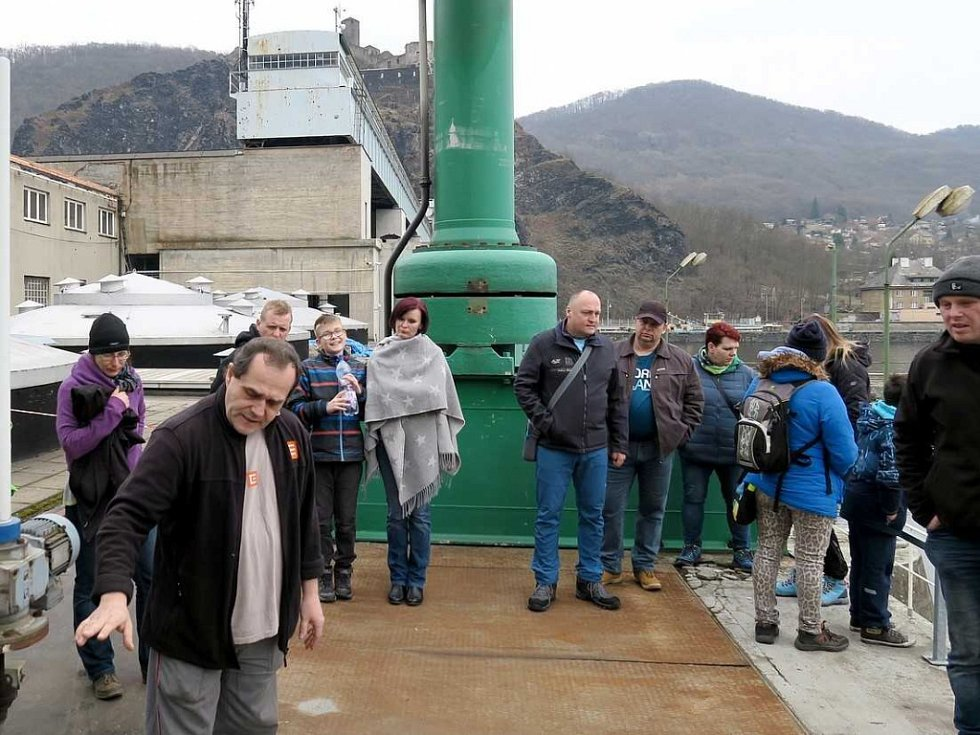 Vodní elektrárna Střekov - den otevřených dveří.