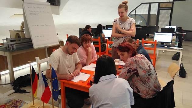 Záběry z workshopu v drážďanském Rezidenčním zámku.