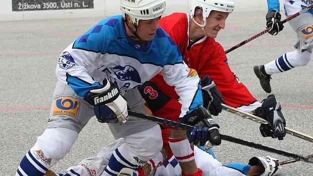 Ústečtí hokejbalisté přivezli ze Slezska tři body.