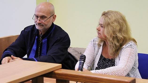 Markéta Lehká u soudu. Ilustrační foto.