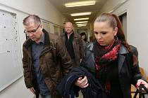 Bývalý náměstek hejtmana Ústeckého kraje Pavel Kouda a exředitel ROP Severozápad Petr Kušnierz u ústeckého soudu