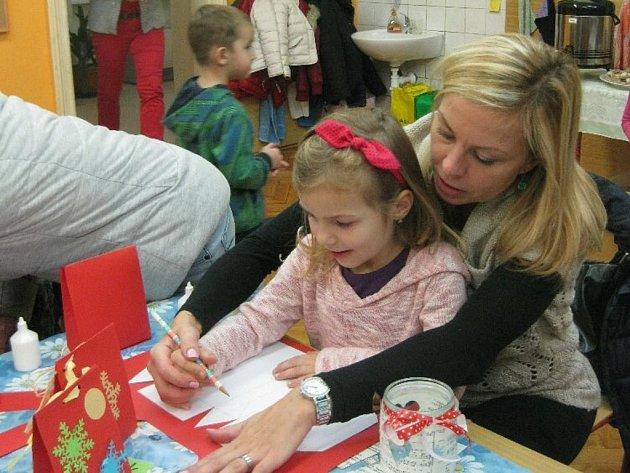 Vánoční dílničky v petrovické škole.