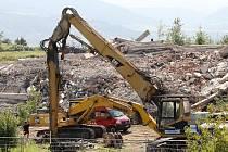 Demolice sektorového centra v Ústí