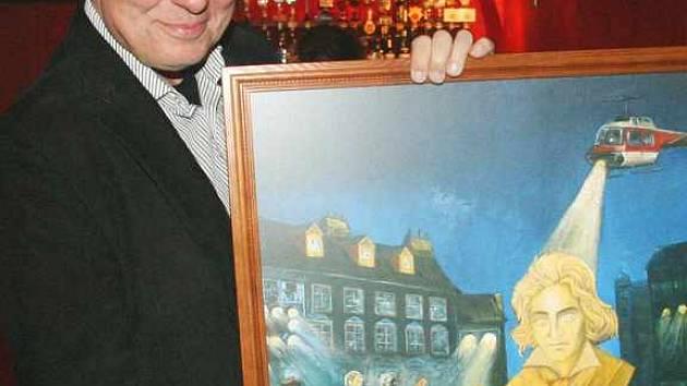 Karel Gott s obrazem