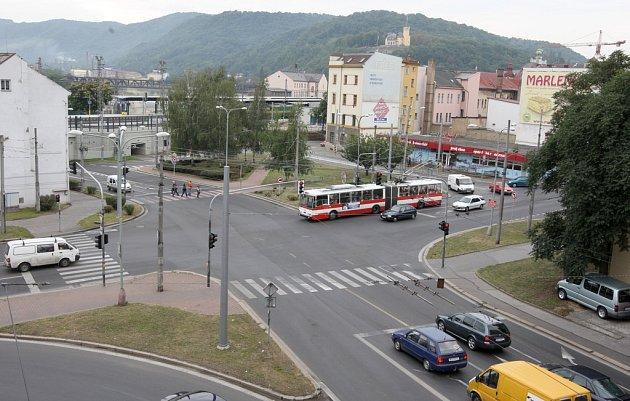 Křižovatka Na Předmostí.