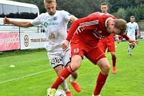 Ústečtí fotbalisté (bílí) zvítězili v Třinci 2:0.
