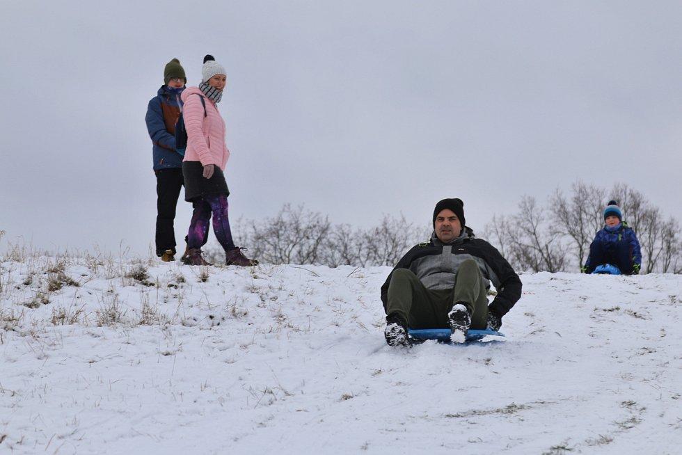 Zimní radovánky u Erbenovy vyhlídky.