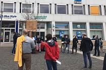 Demonstrace proti prezidentu Miloši Zemanovi v Ústí nad Labem