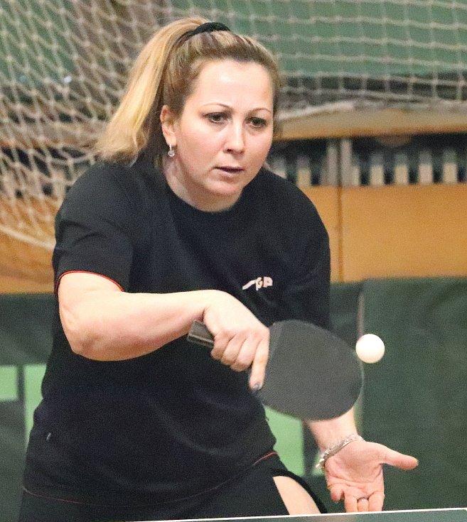 Stolní tenistky SKP Sever Ústí n(L jsou na šestém místě skupiny A 1. ligy - Martina Smíšková