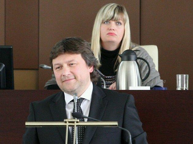 Primátor Vít Mandík (ČSSD) a jeho stranická kolegyně Zuzana Kailová.