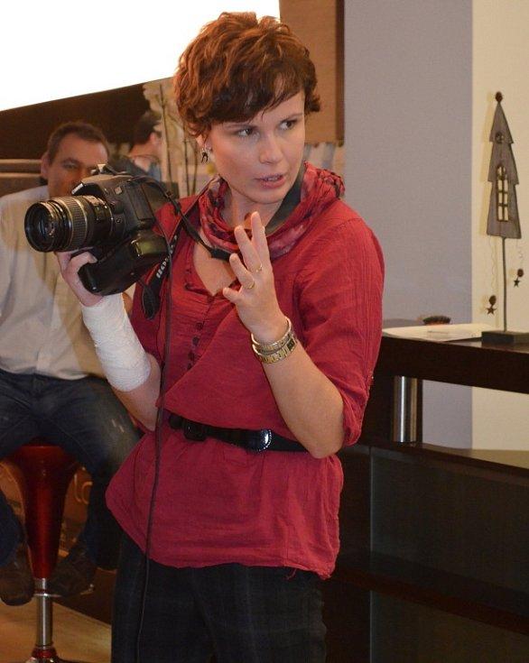 Fotografka Martina při práci.