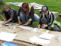 Studenti připravili akci v Městských sadech.