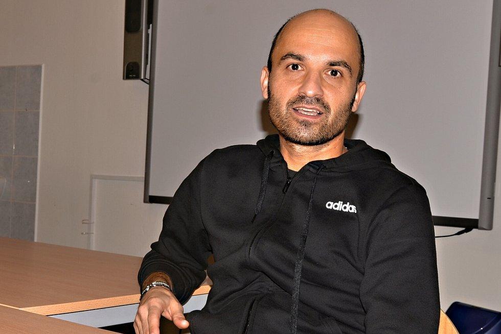 Učitel tělocviku David Cihlář ze ZŠ Pod Vodojemem.