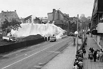Demolice v centru města. Rok 1987.