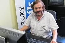 Cestovatel Leoš Šimánek v redakci Ústeckého deníku.