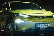 Vůz Hyundai Kona Electric.