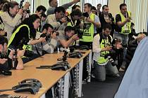 Tisková konference před startem mistrovství Evropy tahačů v Istanbulu.