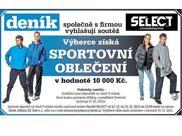 Vyhrajte s Deníkem a firmou Select oblečení za deset tisíc korun.