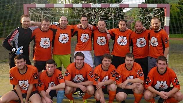 Futsalové družstvo ústeckých Tygříků.
