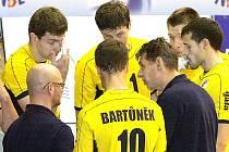 Trenér René Dvořák a jeho ústecká parta, která se zachránila ve volejbalové extralize.