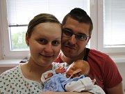 Dominik Sobota se narodil v ústecké porodnici 17. 5. 2017 (12.00) Ingrid Sobotové. Měřil 41 cm, vážil 1,74 kg.