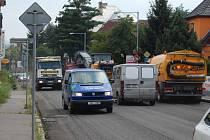 Ve Všebořicích pokračuje oprava silnice I/30.